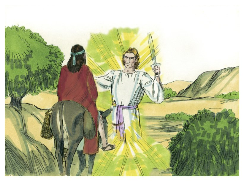 Book of Numbers Chapter 22-1 (Bible Illustrations by Sweet Media)