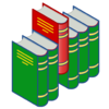 Bookshelf icon (red and green).png