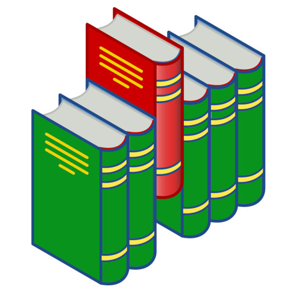 File:Bookshelf icon (red and green).png