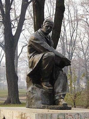 "Borisav Stanković - Borisav ""Bora"" Stanković statue in Vranje, Serbia"