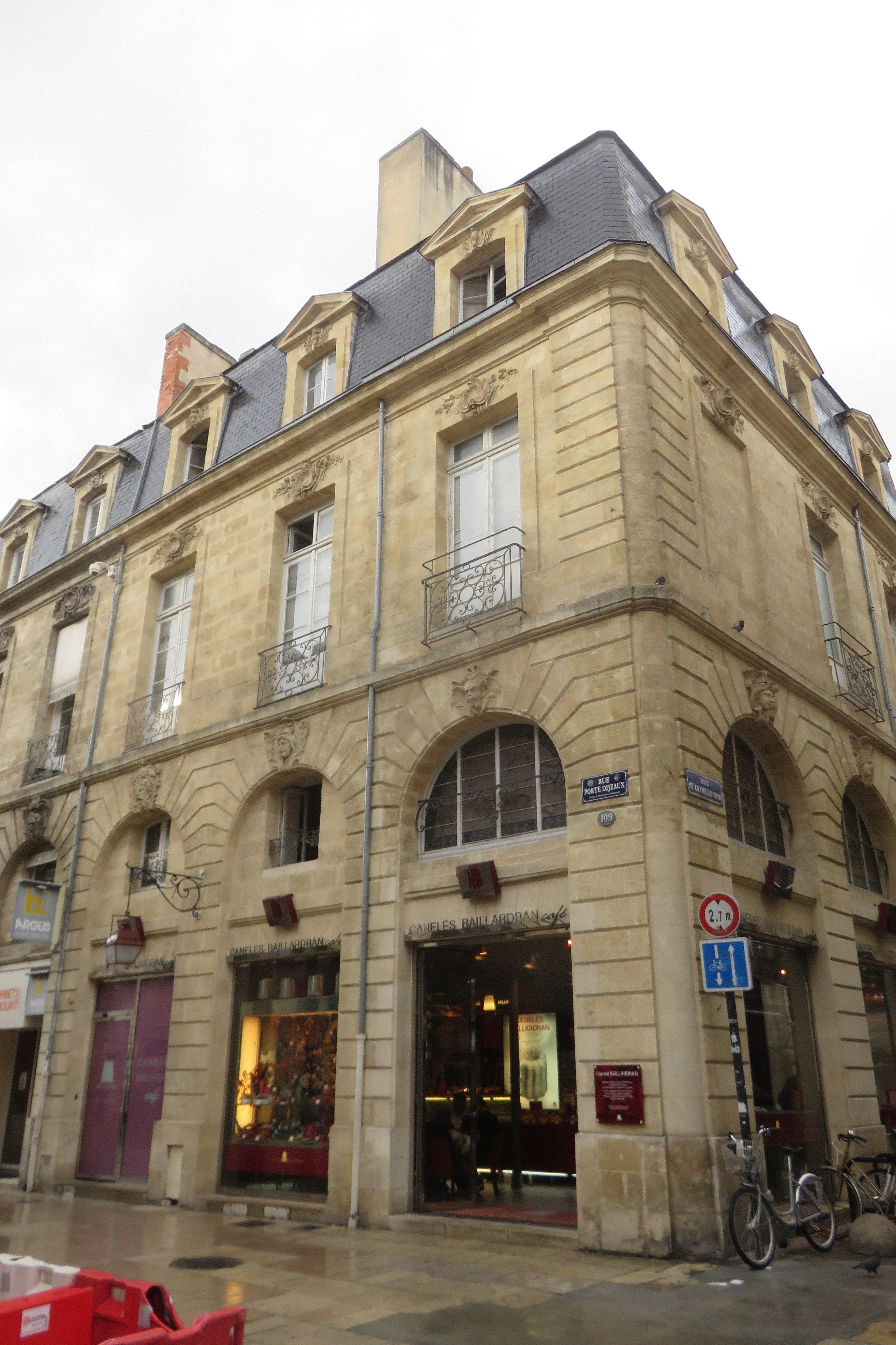 File Bordeaux Mh 109 Rue Porte Dijeaux Jpg Wikimedia Commons