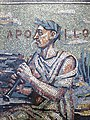 Boris Anrep mosaic, The National Gallery - Sir Osbert Sitwell as Apollo.jpg