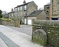 Boundary stone, Huddersfield Road, Holmfirth - geograph.org.uk - 732577.jpg