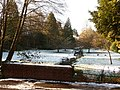 Bournemouth Gardens, upstream from Queen's Road in snow - geograph.org.uk - 1653495.jpg