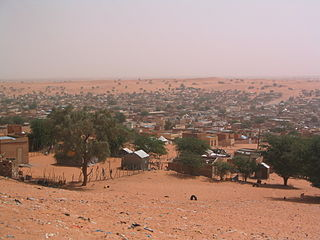 Commune and town in Trarza, Mauritania