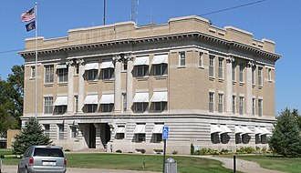 Box Butte County, Nebraska - Image: Box Butte County courthouse from SW 2