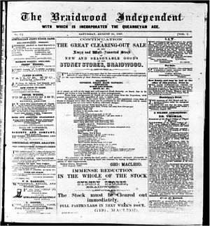 The Queanbeyan Age - The Braidwood Independent, 31 August 1867