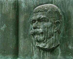 Ivan Vazov - Vazov's bas-relief at Vazovova Street, Bratislava