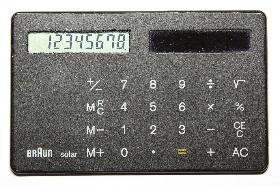 Braun 4856 solar card calculator, 2