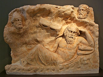 Philoctetes - Marble slab with the Recall of Philoctetes – Archeological Museum of Brauron