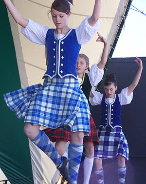 These dancers from the Braziers troupe are performing Highland dancing, a style at which auditionees must demonstrate a high degree of technique and the ability to quickly learn new steps. Brazier Dancers 01.jpg