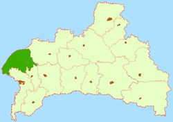 Location of Kamjaņecas rajons