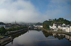 Châteaulin - Morning fog over the Aulne river