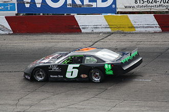 Stock car racing - ASA Late Model Series car on an asphalt track