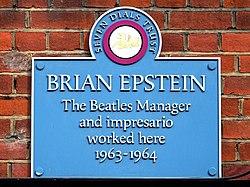 Photo of Brian Epstein blue plaque