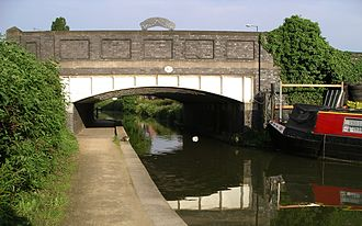 Longford, Coventry - Coventry canal, the towpath, and one of bridges on the Longford Rd in Longford.
