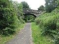 Bridge over old railway footpath - geograph.org.uk - 938645.jpg