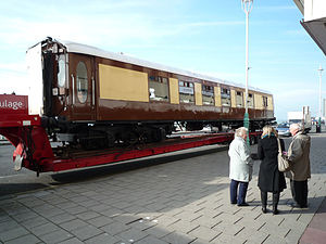 Brighton Belle - Brighton Belle Car 88 on display in Brighton for the first time in 40 years to celebrate the acquisition of the fifth car needed to form a complete Belle unit.