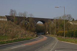 """The South Wales Main Line viaduct<br class=""""prcLst"""" /> at Coalpit Heath"""