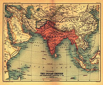 The British Indian Empire and surrounding countries in 1909 BritishIndianEmpireandEnvirons2.jpg