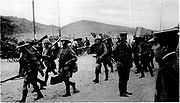 BritishTroopsArriveTsingtao1914