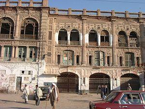 Nowshera, Khyber Pakhtunkhwa - British-era Taj Cinema building in Nowshera