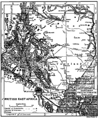 Map of British East Africa in 1911.