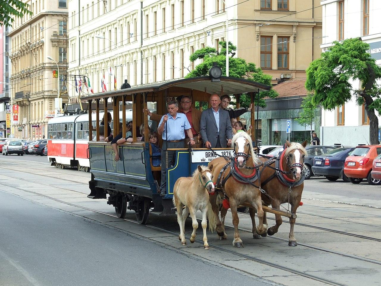 File:Brno, Brno Město, Historická Koňská Tramvaj.jpg