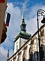 Brno, kostel sv. Jakuba věž.JPG