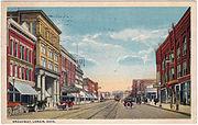 Broadway, Lorain, Ohio (1917 Postcard)