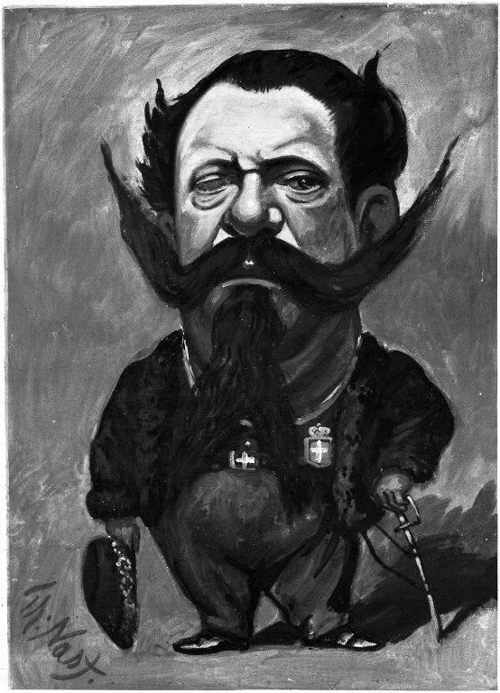 Brooklyn Museum - Caricature of King Victor Emmanuel II - Thomas Nast - overall