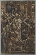 Brooklyn Museum - Maltreatments in the House of Caiaphas (Les mauvais traitements chez Caïphe) - James Tissot.jpg