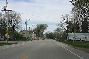Brothertown (community), Wisconsin - Looking north in downtown Brothertown