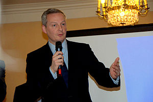 Bruno Le Maire - Bruno Le Maire speaking at a public event, 2013