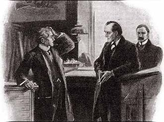 The Adventure of the Bruce-Partington Plans - Sidney Johnson talking to Holmes.