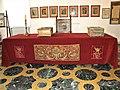 Bucuresti, Romania. PALATUL BRANCOVENESC de la MOGOSOAIA. Interior cu masa frumos ornata (4)(IF-II-a-A-15298).jpg