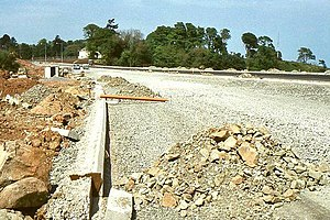 M5 motorway (Northern Ireland) - Building the M5 near Rushpark, Whiteabbey, 1980