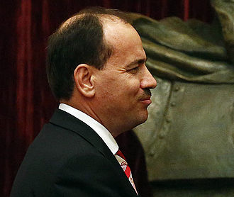 Albanian presidential election, 2012 - Image: Bujar Nishani at meeting with Michael Spindelegger
