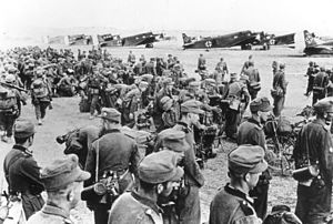 Battle of Crete - Mountain troops prior to their transfer to Crete.