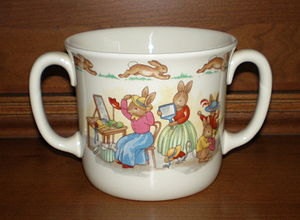 Royal Doulton Bunnykins - Royal Doulton Bunnykins tableware two-handled cup