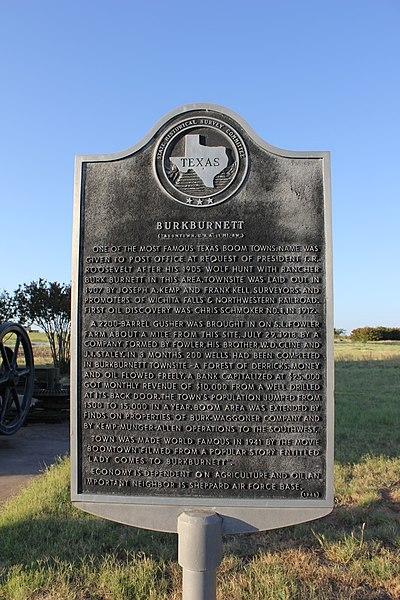 File:Burkburnett, Texas Historical Marker (8353984379).jpg