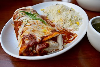 Burrito - Image: Burrito with rice