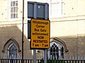 Bus Gate Warning, Hillsborough, Sheffield - geograph.org.uk - 1103647.jpg