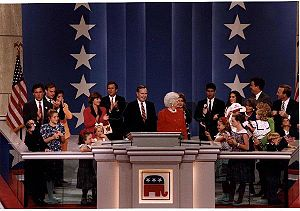 1992 Republican National Convention - Bush with his family at the convention
