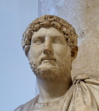Hadrian - Marble bust of Hadrian at the Palazzo dei Conservatori, Capitoline Museums.