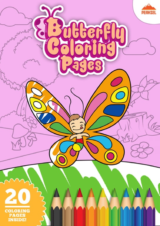 FileButterfly Coloring Pages