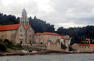 Korčula (town) - Image: CHURCH AND MONASTERY OF SAINT NIKOLA, KORCULA, CROATIA