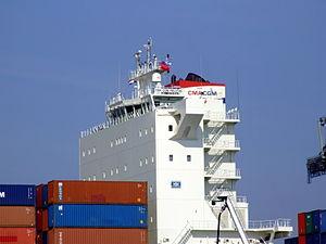 CMA CGM Pelleas pic3, Amazone harbour, Port of Rotterdan, Holland 26-Sep-2008.jpg