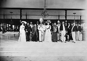 Duke John Albert of Mecklenburg - Duke John Albert of Mecklenburg, regent of the Duchy of Brunswick, during a visit to Susuhunan Pakubuwono X of Surakarta. Dutch East Indies, 1910.
