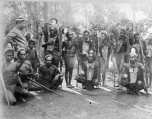 Alor Island - Alor warriors, 1895.